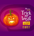 halloween trick or treat poster vector image vector image
