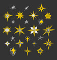 hand drawn christmas stars and bethlehem star vector image vector image