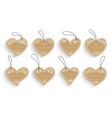 heart shape love label paper craft sale tag set vector image vector image