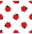 ladybug seamless pattern design vector image