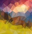 landscape sunset polygonal triangular pattern vector image vector image
