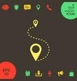 location icon symbol vector image