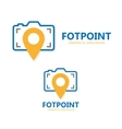 logo point with camera vector image vector image
