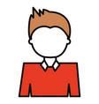 man cartoon profile vector image vector image