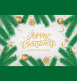 merry christmas party lettering text flyer vector image vector image