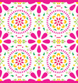 mexican floral seamless pattern folk vector image