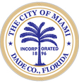 Miami City vector image vector image