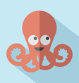 Modern Flat Design Octopus Icon vector image vector image