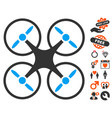 nanocopter icon with lovely bonus vector image vector image
