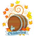 Oktoberfest design with keg vector | Price: 1 Credit (USD $1)