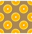 Orange slice fruit seamless pattern Citrus vector image