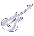 purple electric guitar vector image