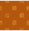 Seamless background with glyphs of the Maya vector image vector image