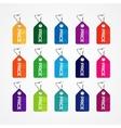 set colorful price tags for market commercial vector image