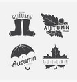set of autumn black emblems on the white vector image vector image