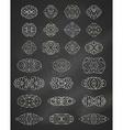 set of chalk geometric ornaments vector image