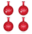 Set of festive stickers for sale vector image vector image