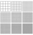 set square grid with different point size vector image vector image
