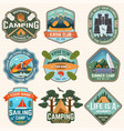 set summer camp badges patches vector image vector image