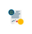 smart contract concept flat icon vector image vector image