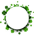 st patrick s day round background vector image