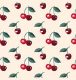 summer pattern with sweet cherries seamless vector image vector image