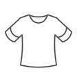 t-shirt thin line icon clothing fashion shirt vector image vector image