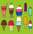 various summer treats vector image