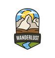 vintage wanderlust adventure logo hiking emblem vector image vector image