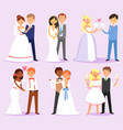 wedding couple married bride or fiancee and vector image