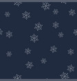 white snowflakes on a dark blue background vector image vector image