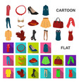 women clothing cartoon icons in set collection for vector image vector image