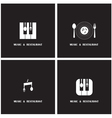 Creative Music and Restaurant icon abstract vector image