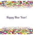 Happy new Year And Nerry Christmas Multicolor vector image