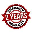 2 years warranty label or sticker