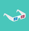 3d cinema glasses isometric vector image
