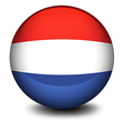 A soccer ball from Netherlands vector image vector image