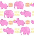 African animals pink seamless pattern vector image vector image