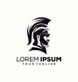 awesome spartan warrior logo design vector image vector image