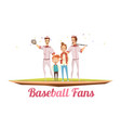 baseball fans male design concept vector image vector image