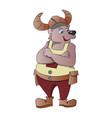 bear wearing a viking cap vector image