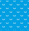 bird wing pattern seamless blue vector image vector image