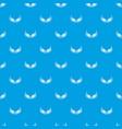 bird wing pattern seamless blue vector image