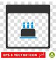 Birthday Cake Calendar Page Eps Icon vector image vector image