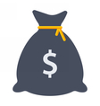 Black Money Bag vector image vector image