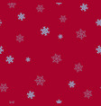 blue snowflakes on a red background seamless vector image