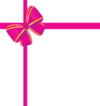 bow in pink and gold color vector image vector image