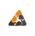 boxing triangle union vector image