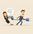 businessman and business woman are preparing to vector image