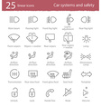 car interface icons set vector image vector image